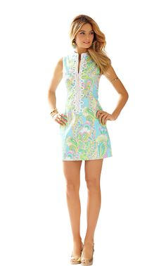 Lilly Pulitzer Alexa Shift Dress in Shorely Blue Double Trouble