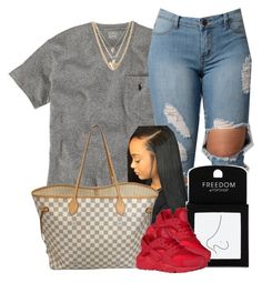 """""""Untitled #475"""" by princess-miyah ❤ liked on Polyvore featuring Ralph Lauren, Louis Vuitton, Ettika and Topshop"""