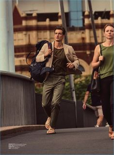 City Adventure: Leo Eller Sports Styles on the Move for GQ China