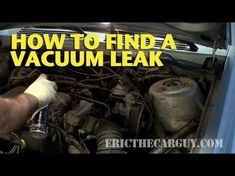 Vacuum leaks are one of the biggest causes of engine performance problems. This video is pretty straight forward in it's approach to finding a vacuum leak. O...