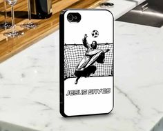 Jesus Saves Soccer for iPhone and Samsung Case by mulailagi
