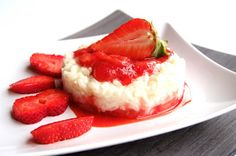 rice pudding with strawberries