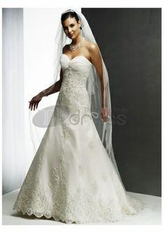Abiti da Sposa Senza Spalline-Sottili innamorato scollatura abiti da sposa senza spalline