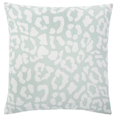 Complete the look of your couch with this Andrew Charles Throw Pillow featuring a ocelot print. The blue colors will complement your decor while adding extra style to your sofa, chair or bed. This pillow is crafted of cotton.
