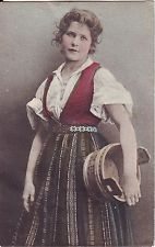 Denmark - Country Woman Costume Dress 1907 used postcard