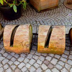 Fahrradständer aus Baumstämmen #DIY