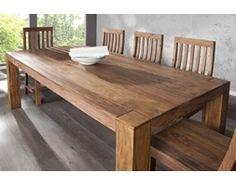 IiNTERIOR Makassar Drewniany Stół 200x100x76cm Drewno Palisander lakier półmat - i15516