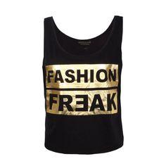 Crop Top mit Print von EIGHT2NINE für Damen  #glitter #party #shine #bright #gold FASHION5