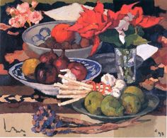 Kees Bol, The things on my table, 1990, still life - art - fruit