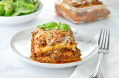 """This low carb keto lasagna recipe is easy to make and tastes just like the real thing. In fact, over the years, I have been told many times that it should be called """"Better Than the Real Thing"""" lasagna. When I was first starting a low carb,… Low Carb Keto, Low Carb Recipes, Diet Recipes, Cooking Recipes, Pasta Recipes, Ketogenic Recipes, Ketogenic Diet, Lasagna Recipes, Soup Recipes"""