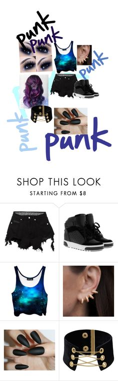 """punk👅"" by li-directioner on Polyvore featuring County Of Milan, MICHAEL Michael Kors and Anne Sisteron"