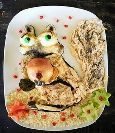 #scrat #iceage #foodart #foivigeller #donkeyandthecarrot #cutefood #funfood #funnyfood #pickyeaters