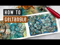 How To GELTANGLE | Art Journal Process 002 - YouTube Gelli Plate Printing, Gel Press, Gelli Arts, Watercolor Journal, Tangle Patterns, Colouring Techniques, Ink Stamps, Paint Markers, Ink Pads