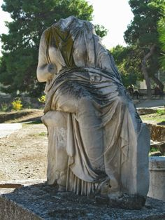 Ancient funerary Stele, Ancient Cemetery of Kerameikos, Athens
