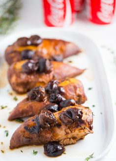 Only four ingredients in this Cherry Coke Chicken recipe. Prepare to have your socks knocked off!