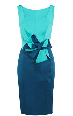Karen Millen dress. love the colors and knot.  WANT!