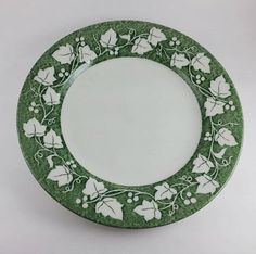Green Ivy Plate Verdigris Pattern Churchill China by VineStMarket