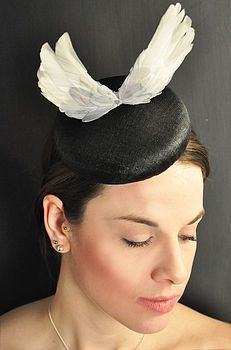 fascinator with wings. For when you want to get up and go.