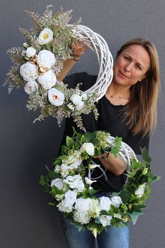 wianki dekoracyjne z pracowni tendom. Summer Door Wreaths, Easter Wreaths, Christmas Wreaths, Wreath Crafts, Diy Wreath, Grapevine Wreath, Corona Floral, Wedding Wreaths, How To Make Wreaths