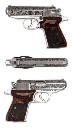 "Why I'm a snowflake: Walther PPKS ""Aristocrat"" Find our speedloader now… Weapons Guns, Guns And Ammo, Airsoft, Armas Ninja, Gun Art, Fire Powers, Custom Guns, Cool Guns, Firearms"