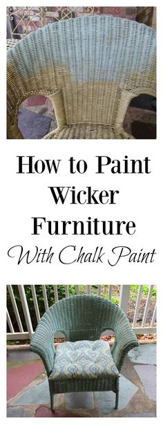 It's SO EASY to paint wicker furniture and give your patio an update on a budget. Click to see the before and after! With 2 small jars of chalk paint I covered: 2 wicker chairs, 1 wrought iron end table, wrought iron bench and a bar cart!