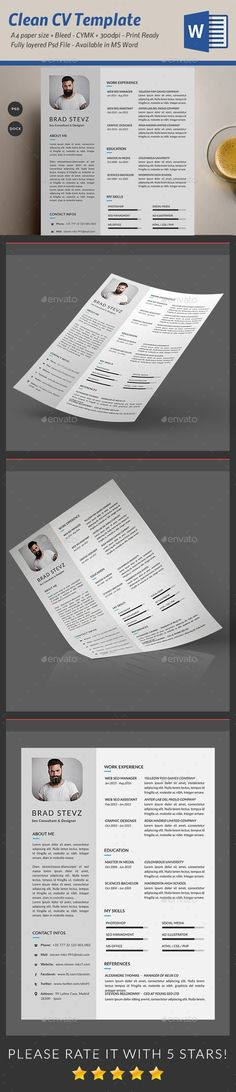 Clean & Simple #Resume - Resumes Stationery