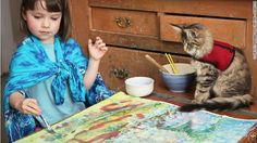 This autistic five-year-old creates artwork that has been compared to Monet