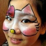 Hello Kitty Face Painting and other excellent face painting ideas!!