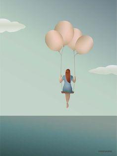Luftballon plakat vissevasse