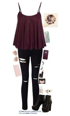 """""""The Stars Gave Her A Crown And Said This Is Your Place Of Belonging"""" by maxilicious ❤ liked on Polyvore featuring Miss Selfridge, MICHAEL Michael Kors, NARS Cosmetics, Essie, Lipstick Queen, Rimini, LifeProof, Ray-Ban and Workhorse"""