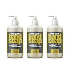 Everyone Hand Soap: Meyer Lemon and Mandarin, Ounce, 3 Count Organic Aloe Vera, Organic Plants, Organic Oil, Making Essential Oils, Pure Essential Oils, Soap Making, Body Care, Hands