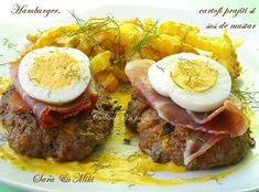 » Idei cum sa transformi ouale de la Paste in retete specialeCulorile din Farfurie Paste, Prosciutto, Guacamole, Hamburger, Curry, Beef, Ethnic Recipes, Food, Meat
