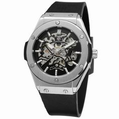 2016 New Style Forsining Skeleton Automatic Watch With Rubber Band Luxury Brand Men Saat-Forsining Watch Company Limited
