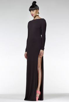 Hutch Maxi Dress - Black - With a slit, too? #swoon