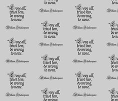Danita's favorite Quote by William Shakspeare fabric by midcoast_miscellany on Spoonflower - custom fabric