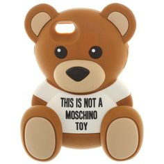 Pre-owned Teddy Bear Case for IPhone 6 / 6s ($62) ❤ liked on Polyvore featuring accessories, tech accessories, brown and moschino