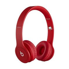Beats by Dr. Dre Beats Solo HD On-Ear Headphones Drenched in Red ($140) ❤ liked on Polyvore featuring accessories, tech accessories, beats, headphones, red headphones, beats by dr. dre and beats by dr dre headphones