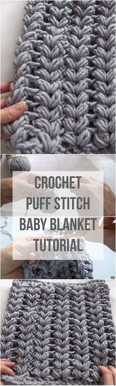 If you were searching for a tutorial to crochet a puff stitch baby blanket, then this article is perfect for you. It comes with a free video tutorial! @craftsy