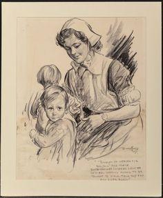 Burris Jenkins Jr. (American, 1897-1966) Bundles of Nurses, WWII poster 1941