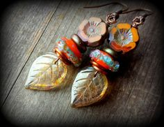 Hey, I found this really awesome Etsy listing at https://www.etsy.com/listing/280100746/czech-glass-earrings-orange-marigold