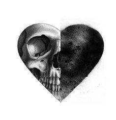 Heart Skull Art