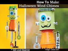 How To Make Halloween Wind Chimes