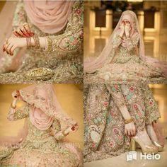 Muskan( on TikTok Bridal Hijab Styles, Asian Bridal Dresses, Bridal Mehndi Dresses, Pakistani Wedding Outfits, Bridal Dress Design, Wedding Dresses For Girls, Pakistani Wedding Dresses, Bridal Outfits, Muslimah Wedding Dress