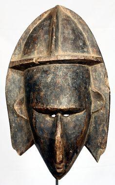 Máscara Bambara de 42 cm de altura. Originaria de Malí.
