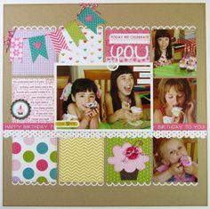 #papercraft #scrapbook #layout      bella blvd birthday girl