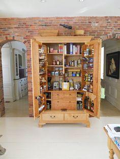 TURN AN OLD ARMOIRE INTO KITCHEN CABINET SPACE · Kitchen StorageKitchen.