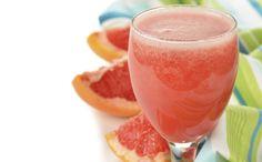 Grapefruit&cranberrysmoothie-Net als soep zitten ook smoothies boordevol gezonde stoffen. Houd af en toe een 'smoothiedag' en je komt niets tekort! Deze smoothie is slank en supergezond.
