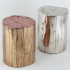 Creative Tree Trunk Solutions for Warm and Modern Look for Your Home A rustic look may be reached by simply deciding upon the perfect accessories and finishes for your property. A number of you might think that tree tru… (Visited 3 times, 1 visits today) Log Furniture, Painted Furniture, Furniture Design, Silver Furniture, Office Furniture, Into The Woods, Unique Home Decor, Diy Home Decor, Wood Stumps