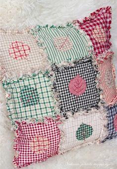 Tattered Quilt / Rag Cushion