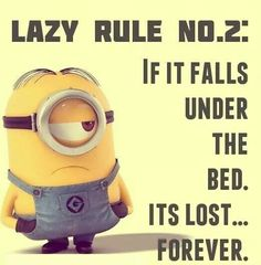 Good thing I don't have an under bed other wise this would be true LOL